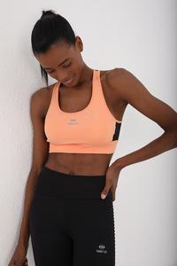 Tommy Life Toptan Yavruağzı Kadın Çapraz Sırt Detaylı Slim Fit U Yaka Spor Büstiyer - 97121 - Thumbnail
