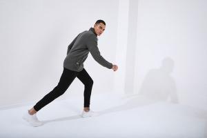 Tommy Life Toptan Dik Yaka Polar Haki Cep Detaylı Erkek Sweatshirt - Thumbnail