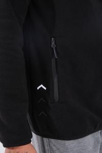 Tommy Life Toptan Dik Yaka Polar Siyah Cep Detaylı Erkek Sweatshirt - Thumbnail