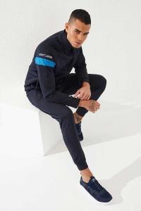 Tommy Life Toptan Sport Silver Reflektör Göğüs Garnili Lacivert-Lacivert Dalgıç Erkek Eşofman Takım - Thumbnail