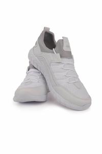 TommyLife - Tommy Life Toptan Beyaz Erkek Bağcıklı Yüksek Taban Spor Ayakkabı - 89043_1