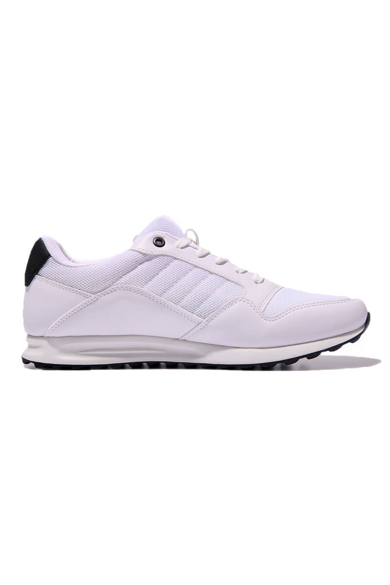 TommyLife - Tommy Life Toptan Beyaz Erkek File Detaylı Bağcıklı Spor Ayakkabı-89062