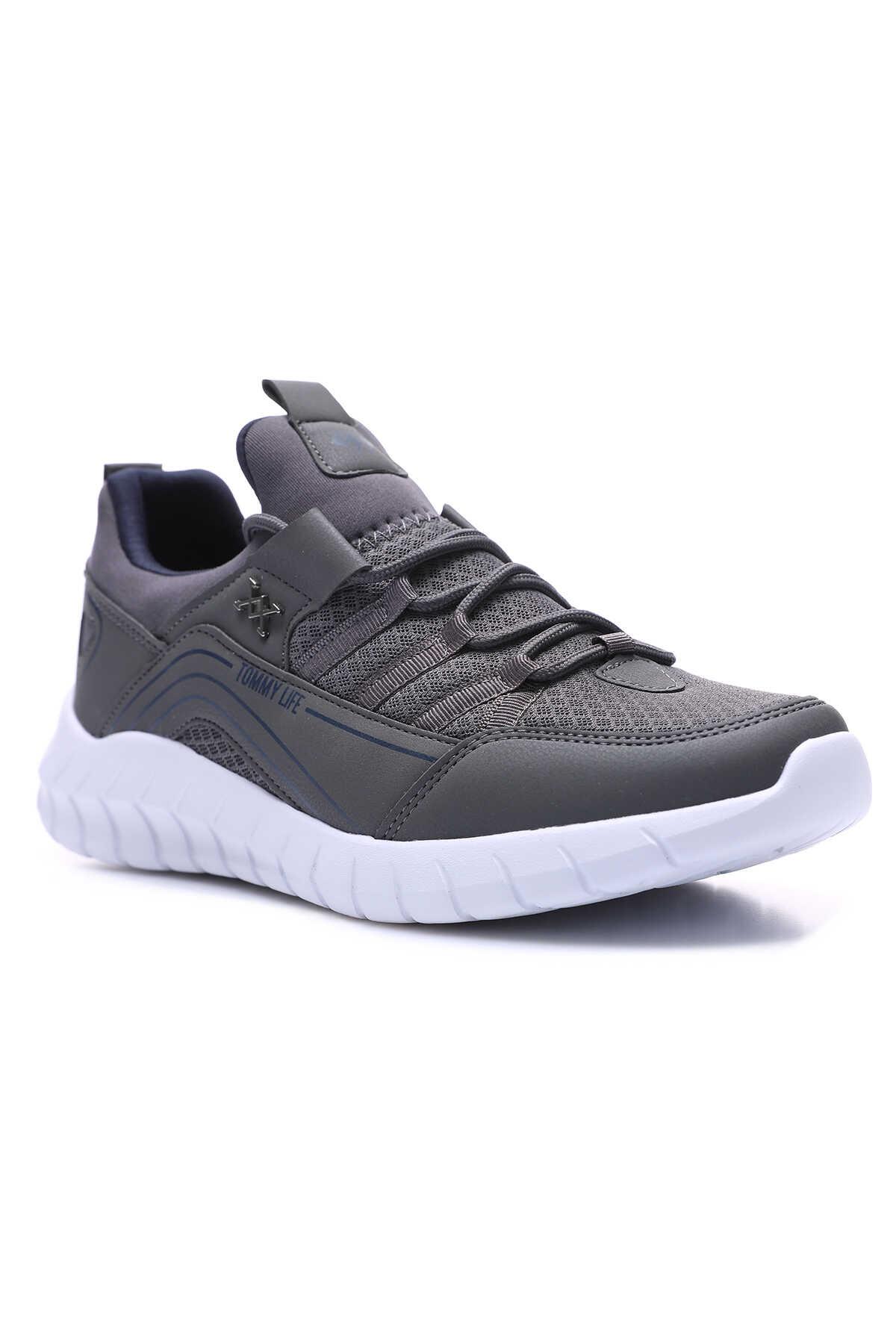 Tommy Life Toptan Füme Erkek Bağcıklı Yüksek Taban Spor Ayakkabı - 89043_1
