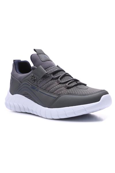 Tommy Life Toptan Füme Erkek Bağcıklı Yüksek Taban Spor Ayakkabı - 89043_1 - Thumbnail