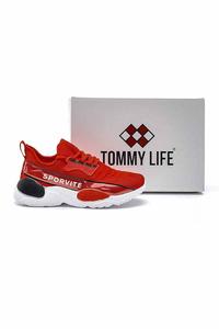 Tommy Life Toptan Kırmızı Erkek Spor Ayakkabı - Thumbnail