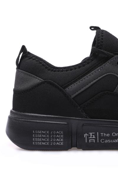 Tommy Life Toptan Siyah Erkek Renkli Bağcıklı Yüksek Taban Spor Ayakkabı - 89029_01 - Thumbnail