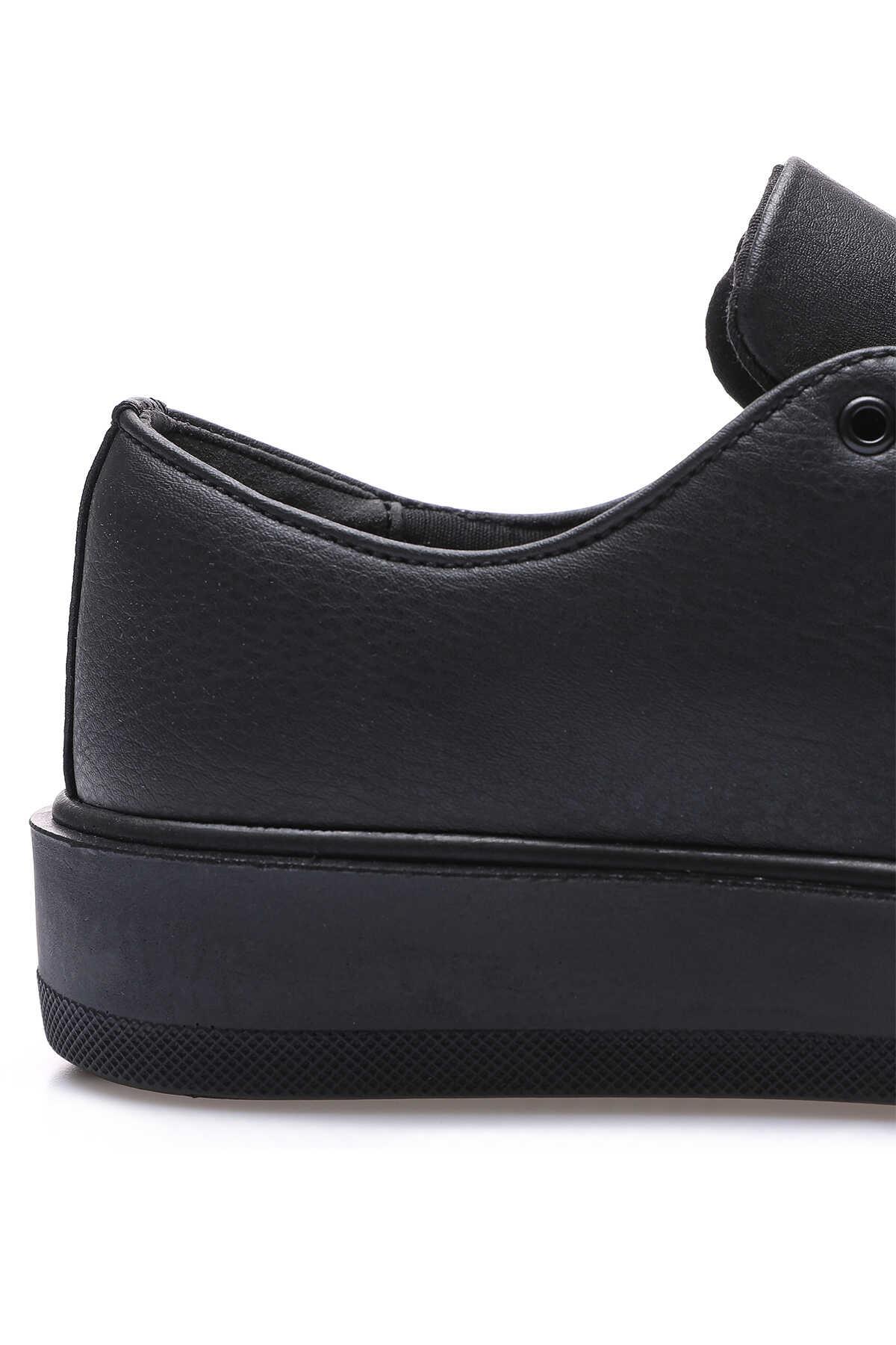 Tommy Life Toptan Siyah Erkek Bağcıklı Suni Deri Spor Ayakkabı - 89051_1