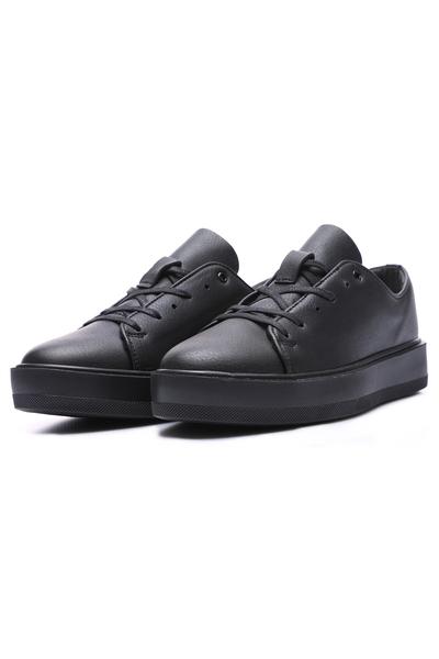 Tommy Life Toptan Siyah Erkek Bağcıklı Suni Deri Spor Ayakkabı - 89051_1 - Thumbnail