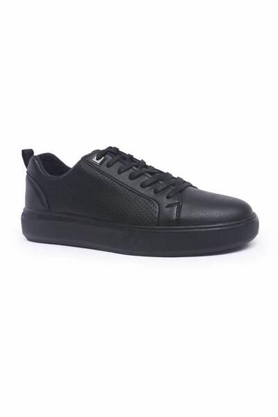 TommyLife - Tommy Life Toptan Siyah Erkek Spor Ayakkabı