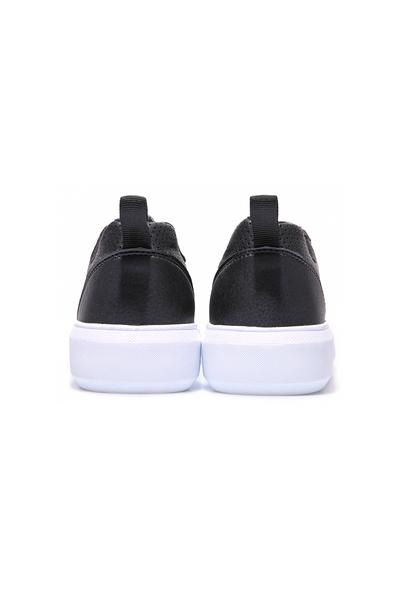Tommy Life Toptan Siyah - Beyaz Erkek Delikli Bağcıklı Suni Deri Spor Ayakkabı - 89055_01 - Thumbnail